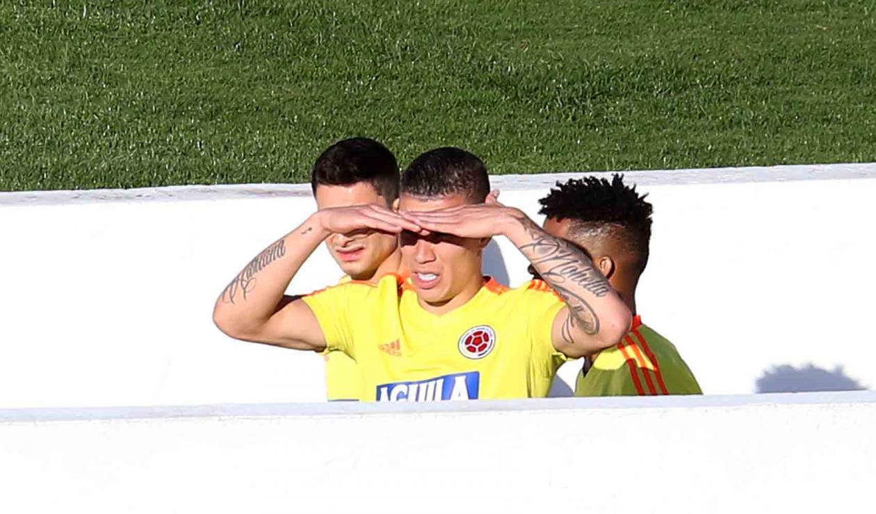 Colombia entrenó en el estadio Pacaembú de Sao Paulo.