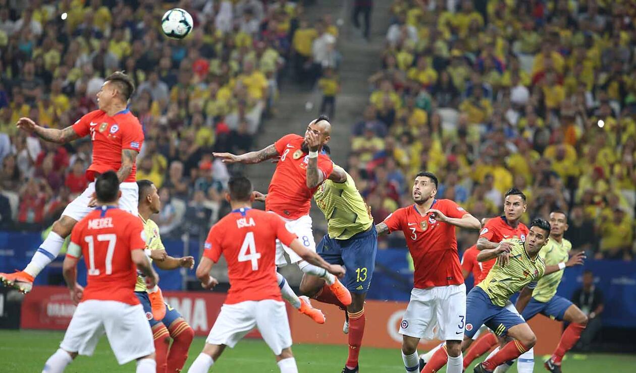 Colombia enfrentó a una Chile rocosa que impidió hacer un juego fluido.