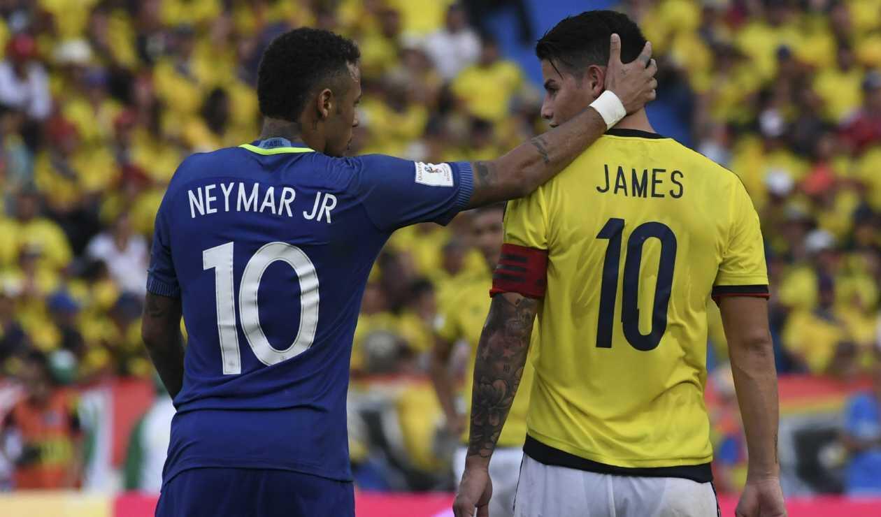 Neymar y James Rodríguez