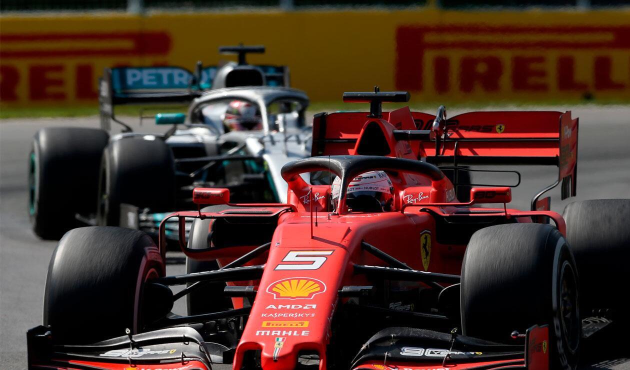 Sebastian Vettel, Lewis Hamilton, Canadá, 2019