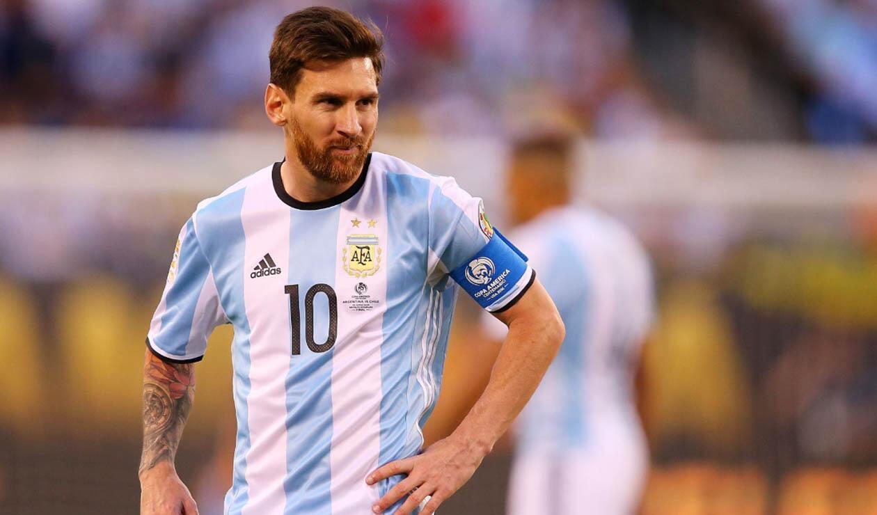 Lionel Messi, jugador de la Selección de Argentina