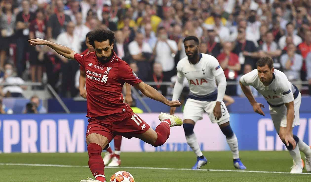 Salah marcó el primero en la final de Champions
