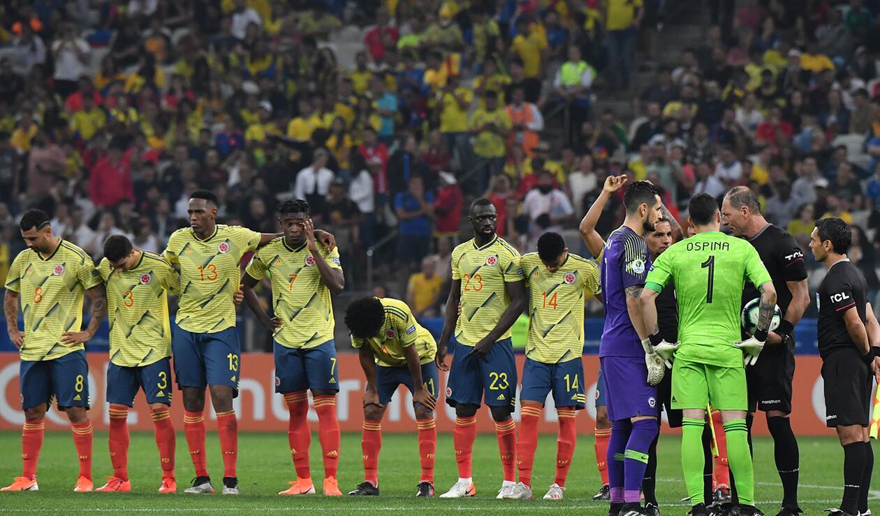 La Selección Colombia tras quedar eliminada de la Copa América Brasil 2019