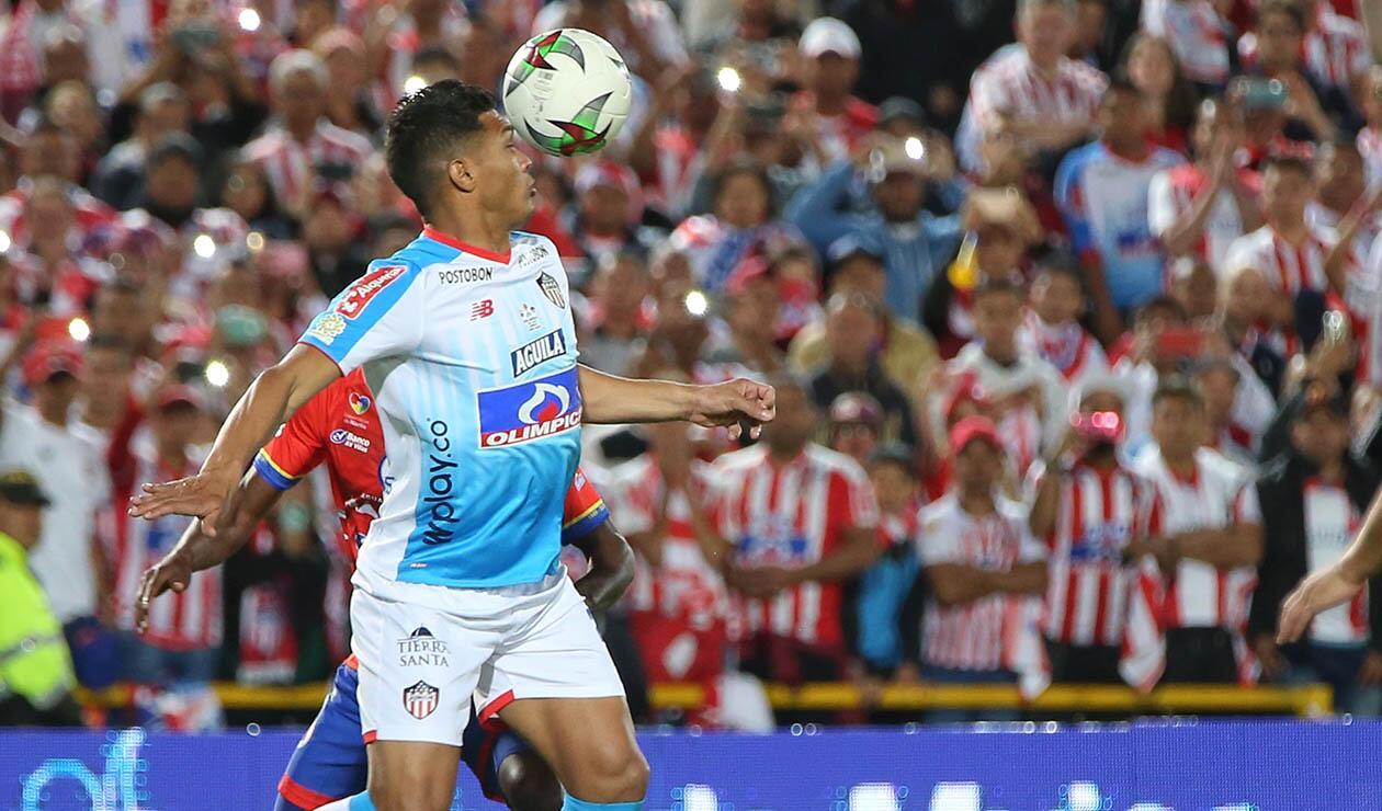 Teófilo Gutiérrez jugando la gran final ante el Pasto
