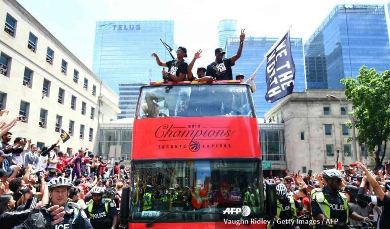 Celebración de Toronto Raptors