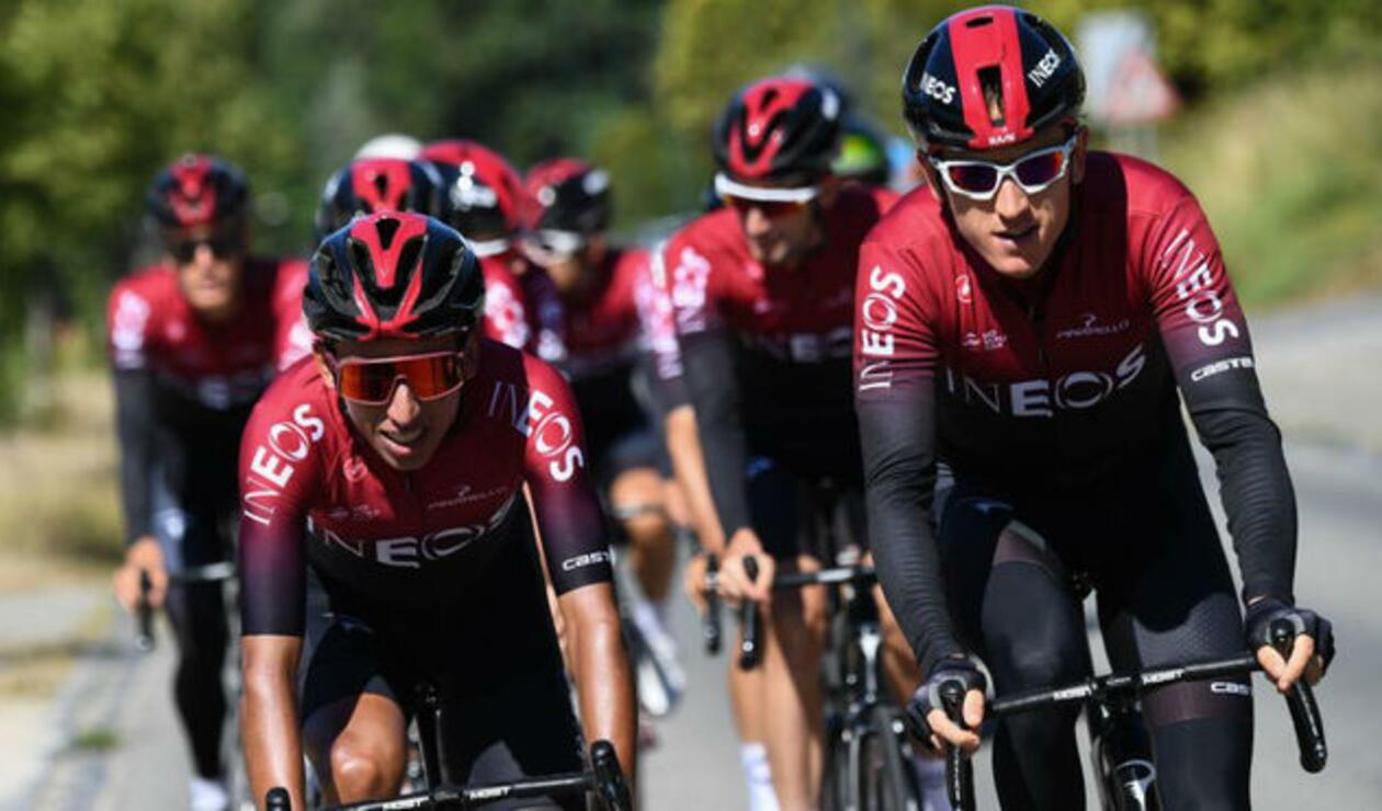 Egan Bernal y Geraint Thomas - Team Ineos