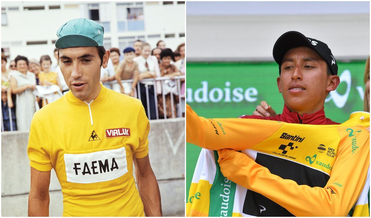 Eddy Merckx y Egan Bernal