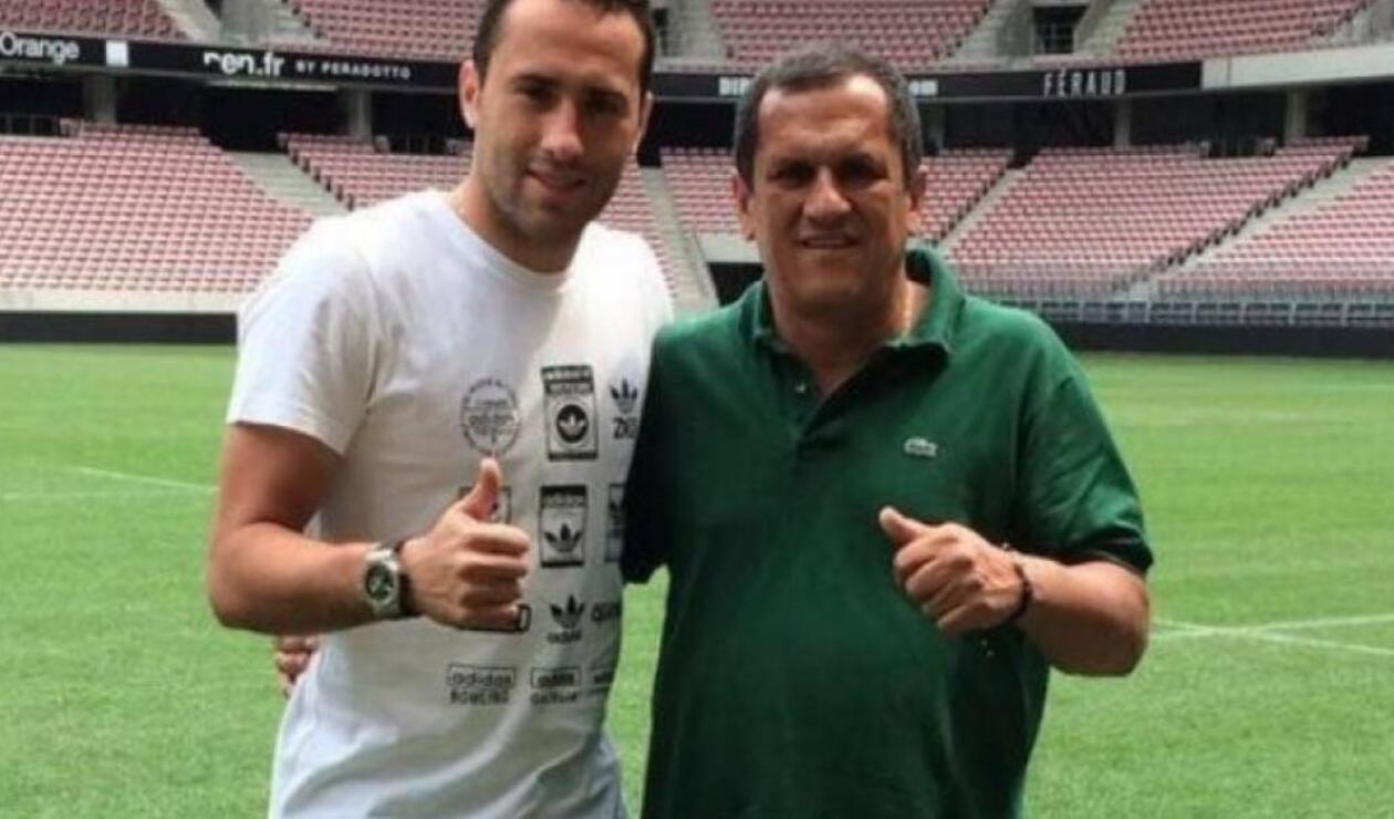 David Ospina y su papá
