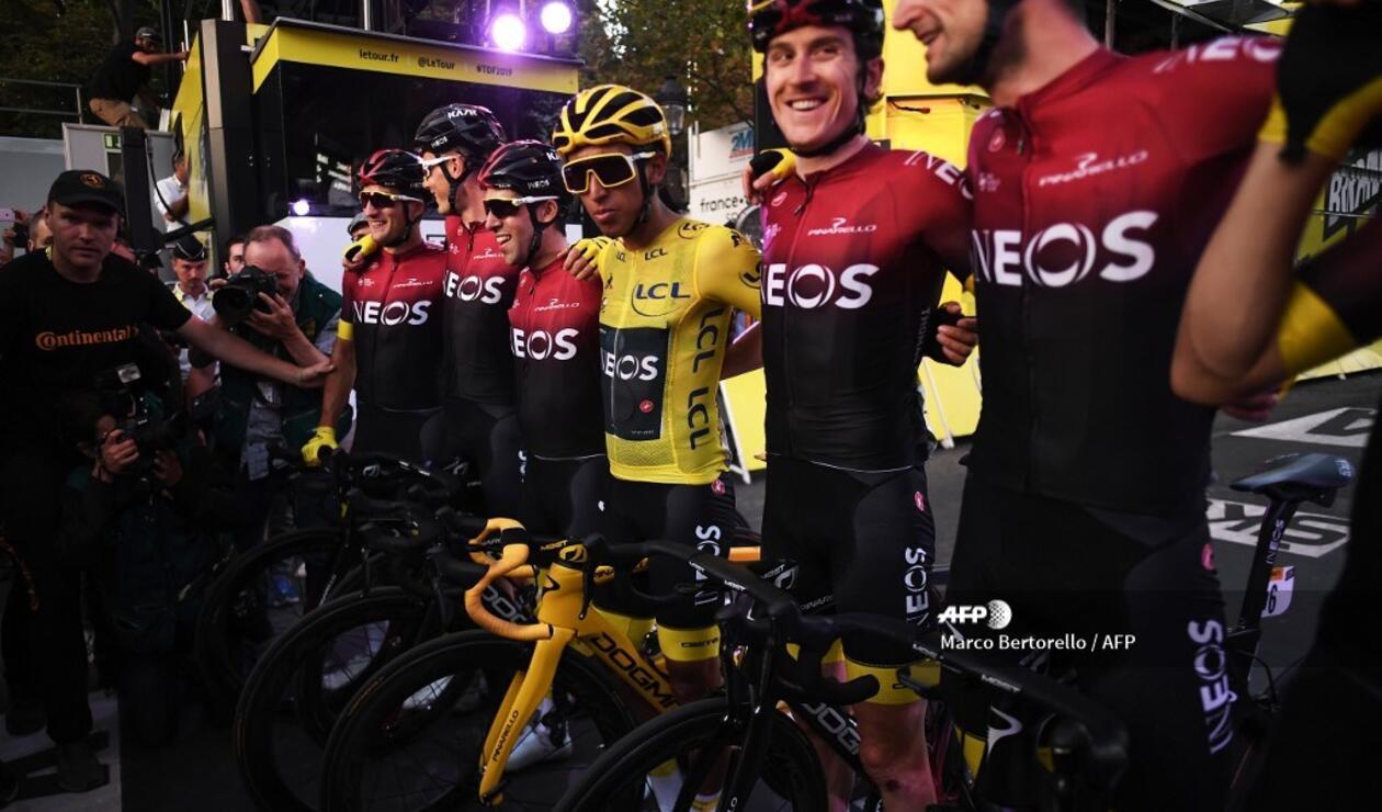 Egan Bernal con Team Ineos en el Tour de Francia