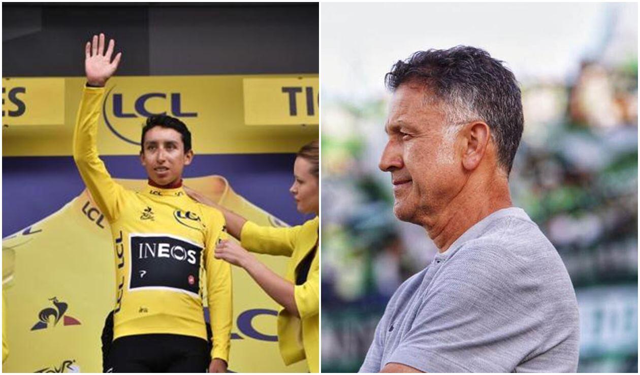 Egan Bernal y Juan Carlos Osorio