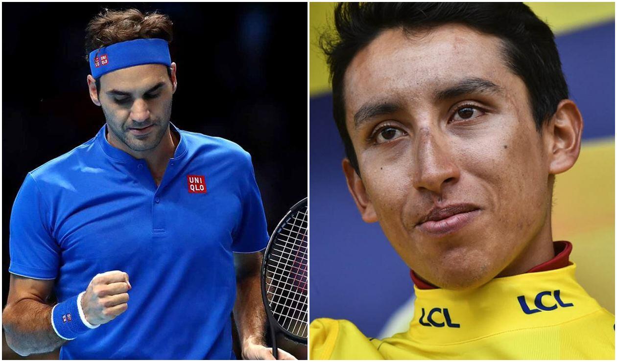 Roger Federer y Egan Bernal