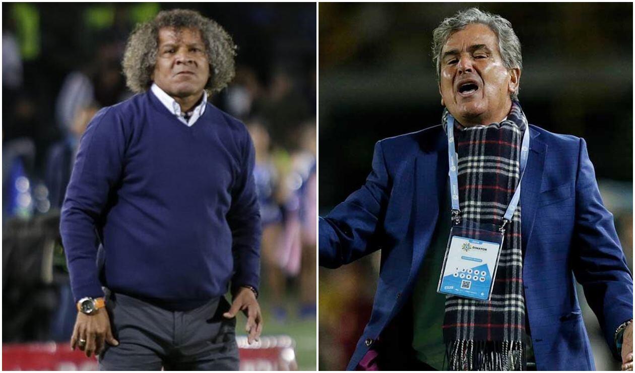 Alberto Gamero, DT del Tolima, y Jorge Luis Pinto, entrenador de Millonarios