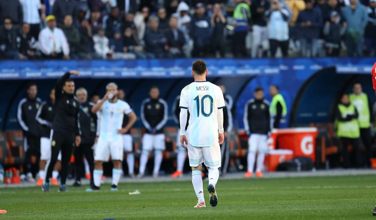 Expulsión Messi - Argentina vs Chile