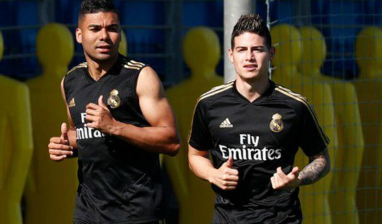 James Rodríguez entrenando en Real Madrid