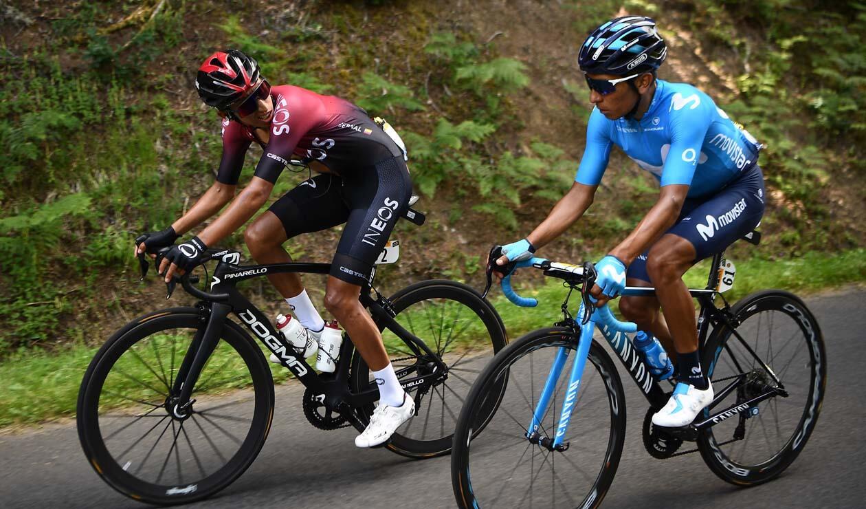 Nairo Quintana y Egan Bernal - Tour de Francia 2019