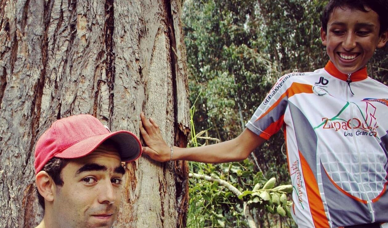 Pablo Mazuera y Egan Bernal