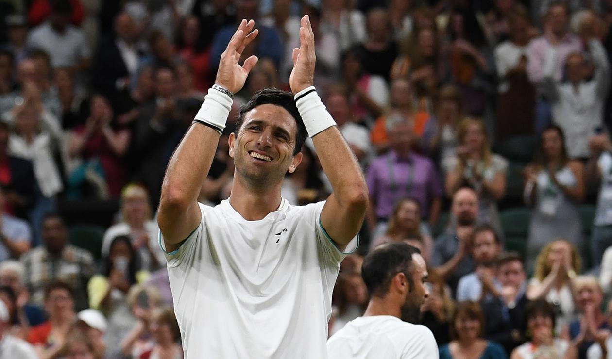 Robert Farah, tenista colombiano, en el All England Club de Londres
