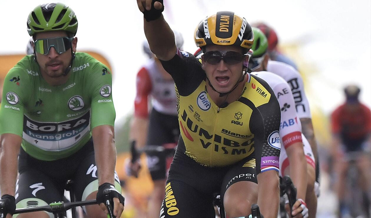 Dylan Groenewegen derrotó en la etapa número 7 del Tour de Francia a Peter Sagan y  Caleb Ewan