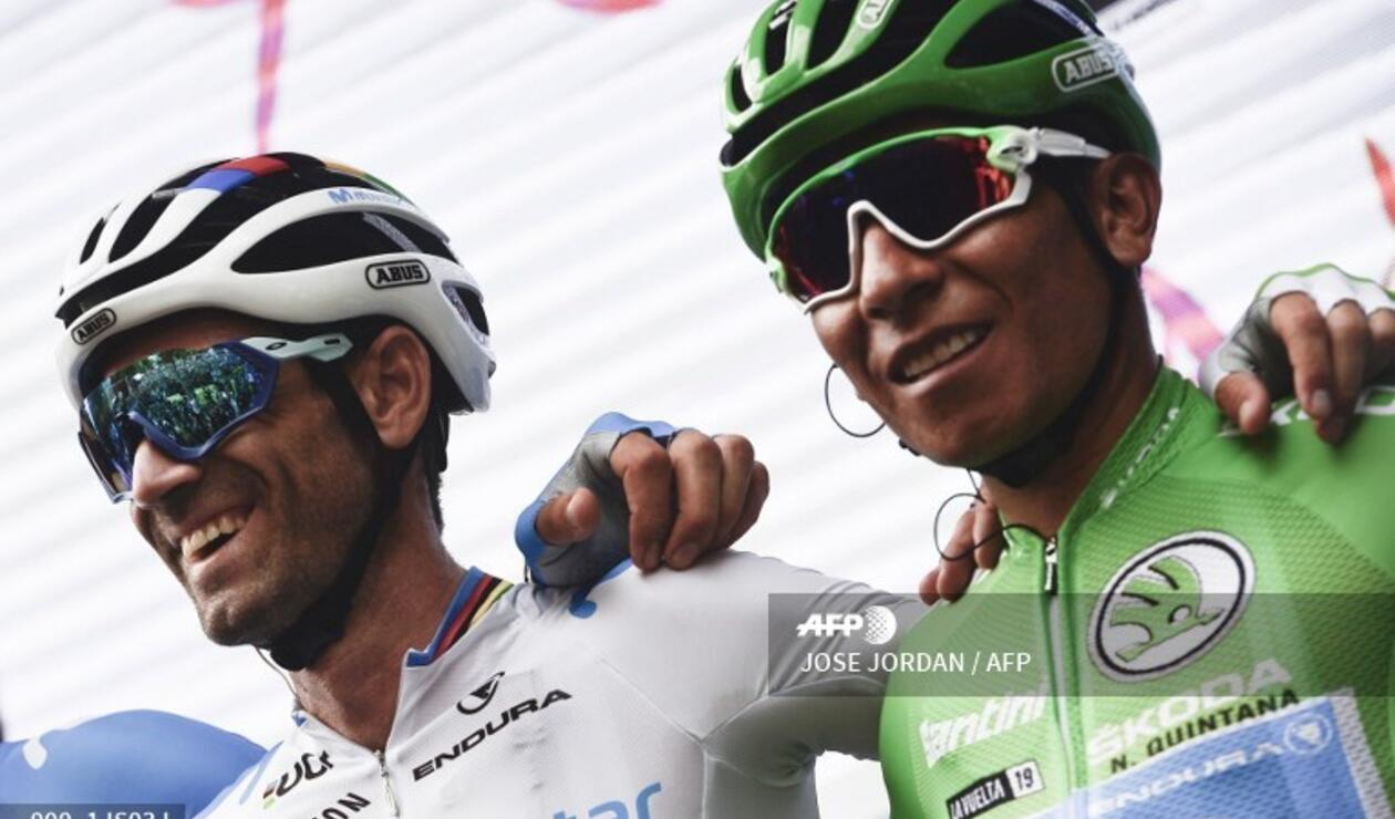 Alejandro Valverde y Nairo Quintana - Movistar Team