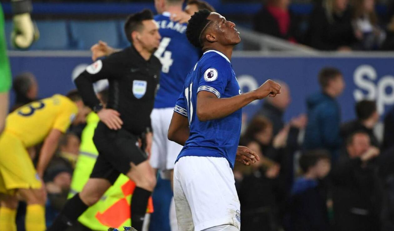 Yerry Mina, central colombiano que juega en el Everton