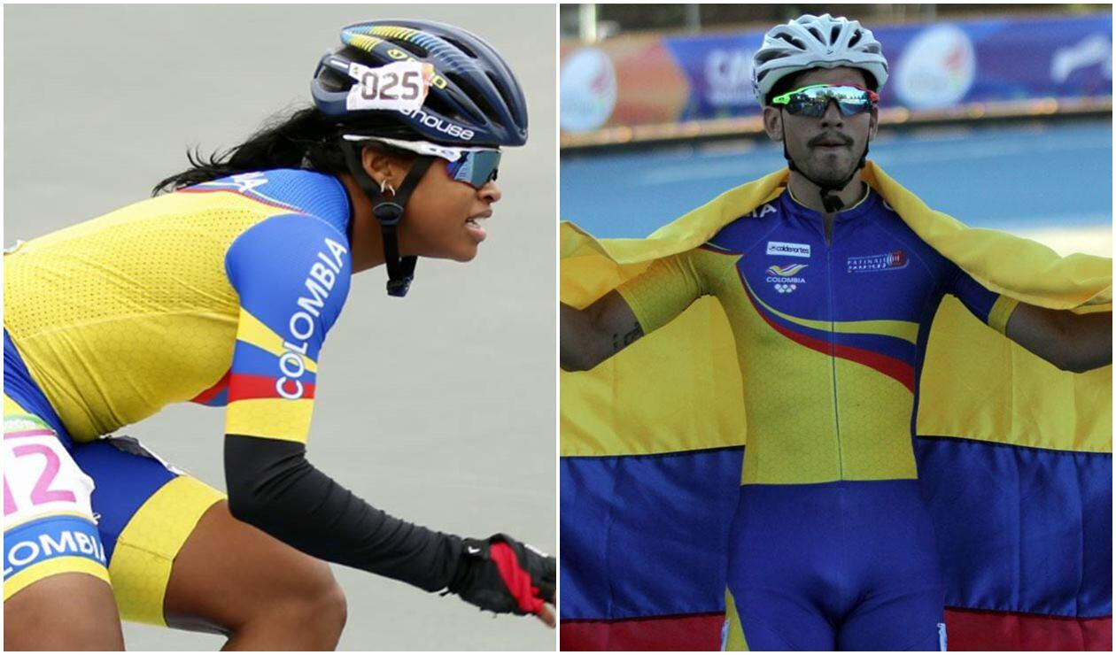 Geiny Pajaro y Pedro Causil ganaron el oro para Colombia en patinaje