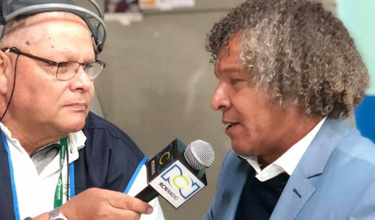 Alberto Gamero, técnico de Millonarios, hablando en exclusiva con RCN Radio, Antena 2