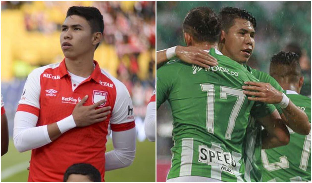 Nicolás Hernández jugando con Santa Fe y Nacional