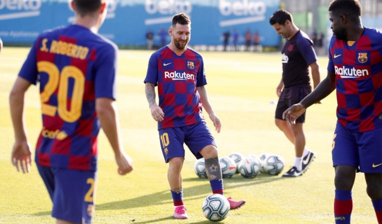 Messi regreso a entrenamientos