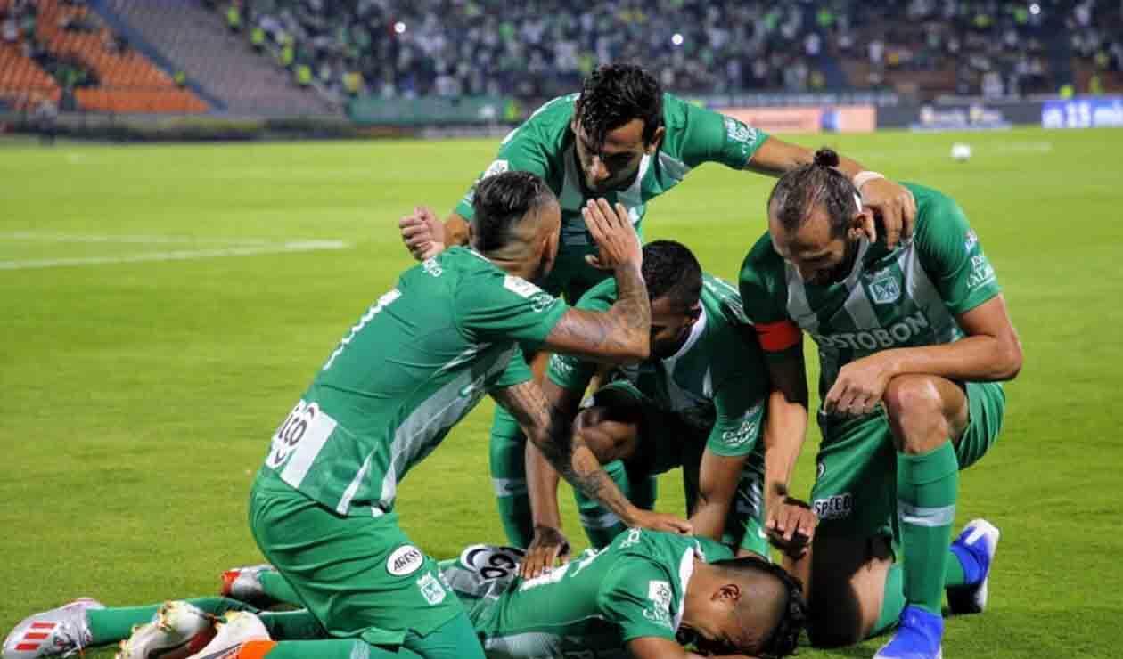 Atlético Nacional, equipo celebrando un gol