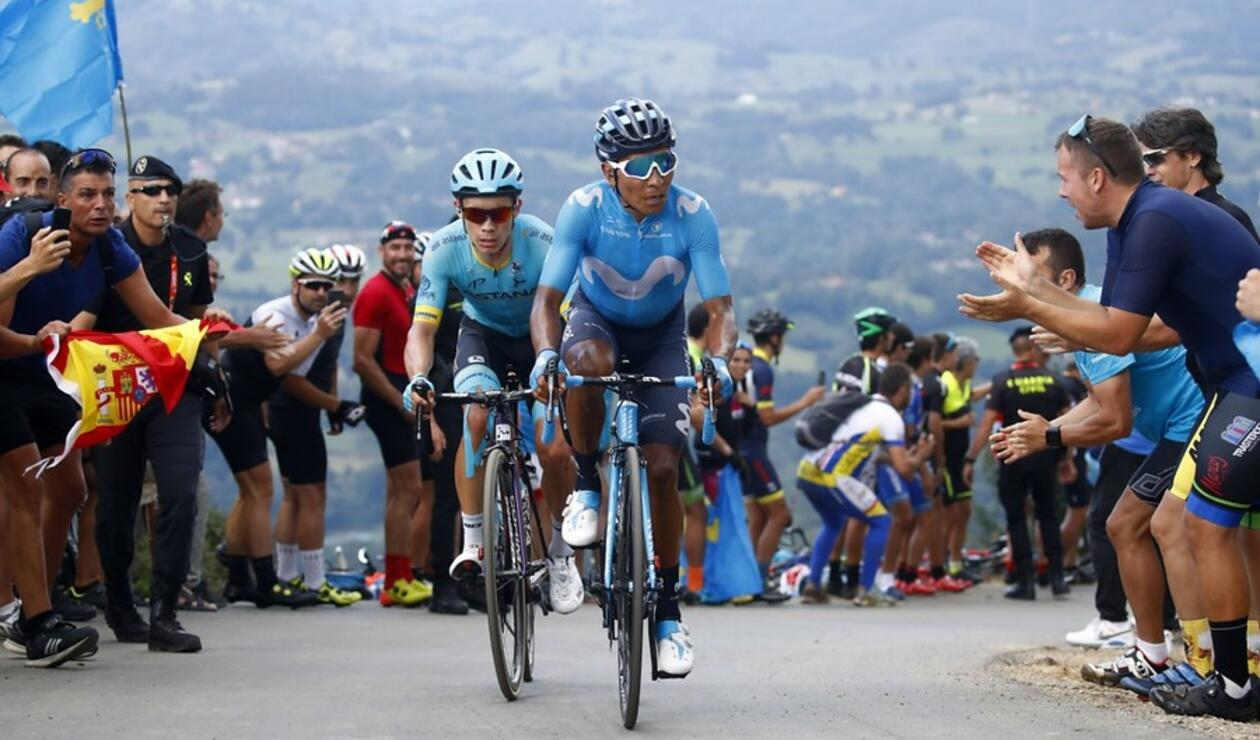 Nairo y Superman López - Vuelta España 2018