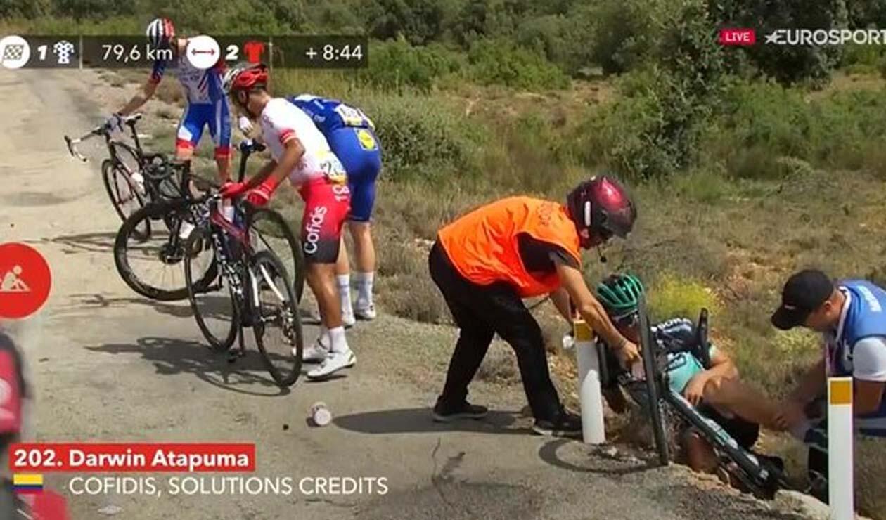 Atapuma, caída en la etapa 5 Vuelta a España