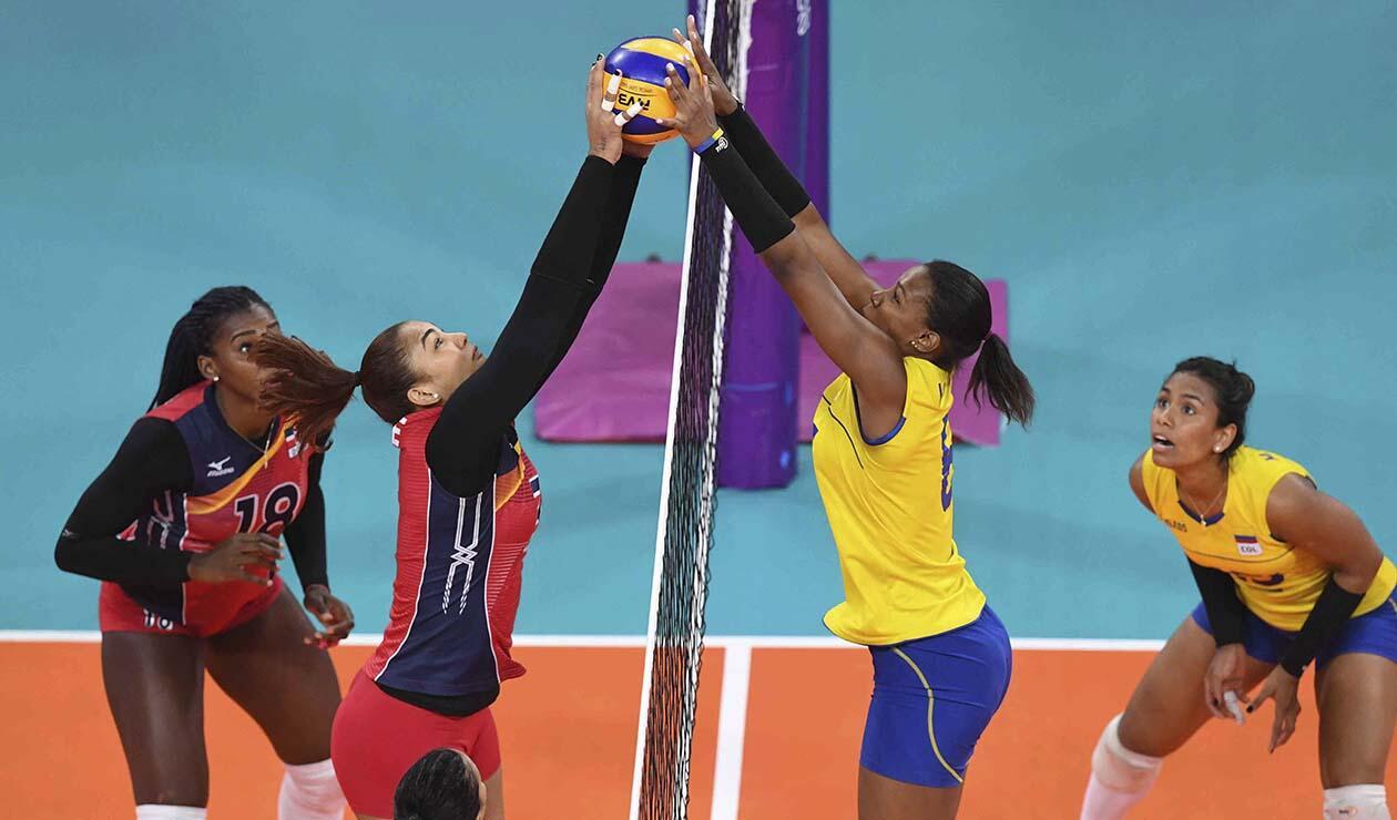 Colombia ganó medalla de plata en voleibol femenino tras perder ante República Dominicana