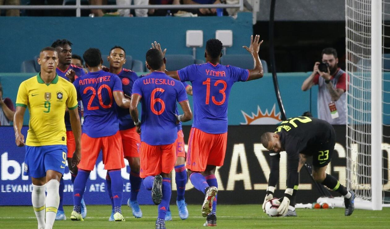 Selección Colombia vs Brasil - amistoso 2019