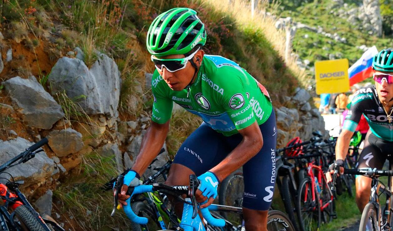 Nairo Quintana durante una de las etapas de la Vuelta a España 2019.