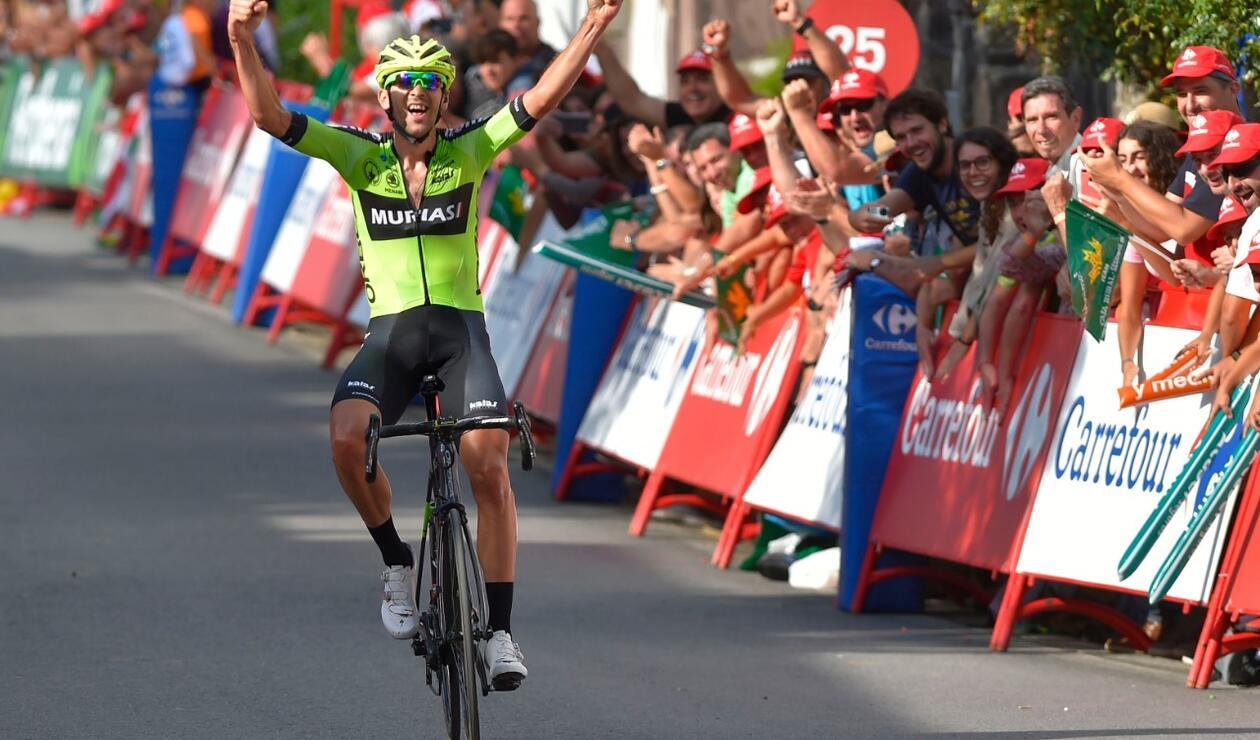 Mikel Iturria ganó la etapa 11 de la Vuelta a España