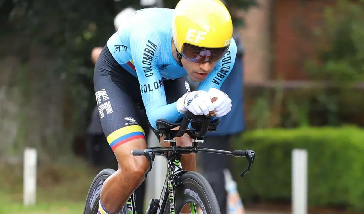 Daniel Felipe Martínez, ciclista colombiano de la Selección Colombia Manzana Postobón