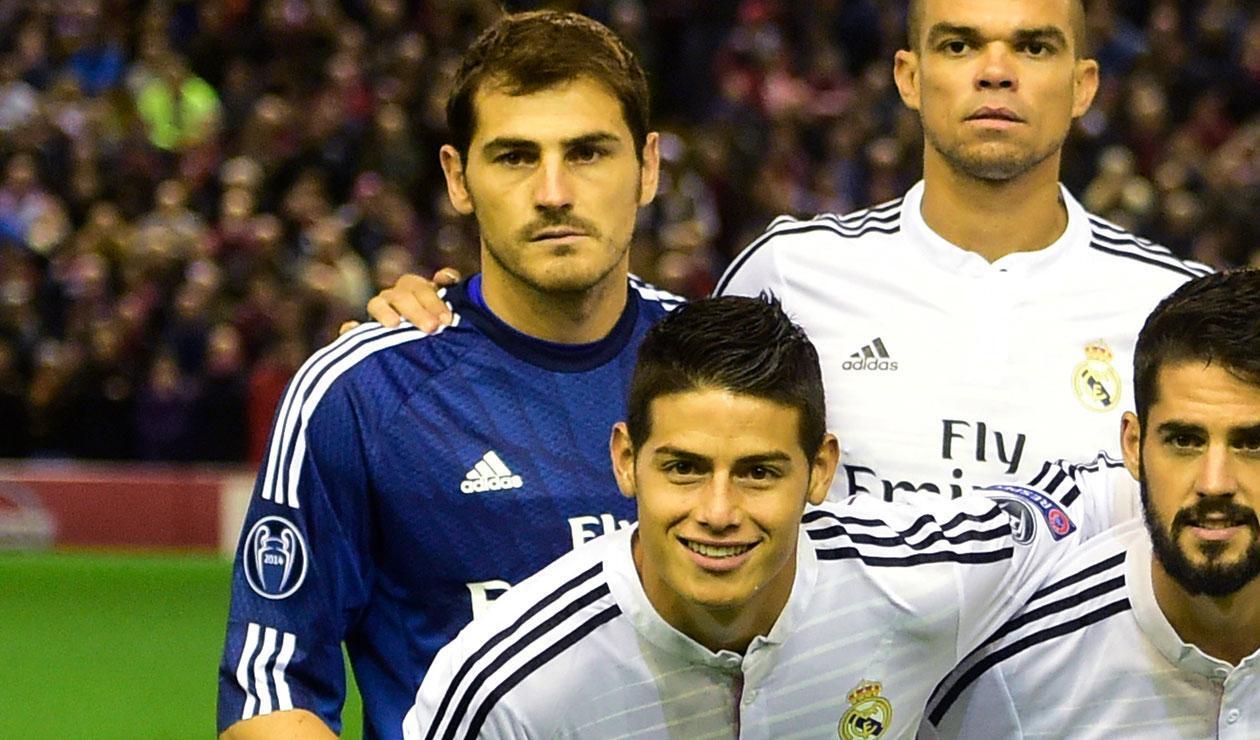 Iker Casillas y James Rodríguez
