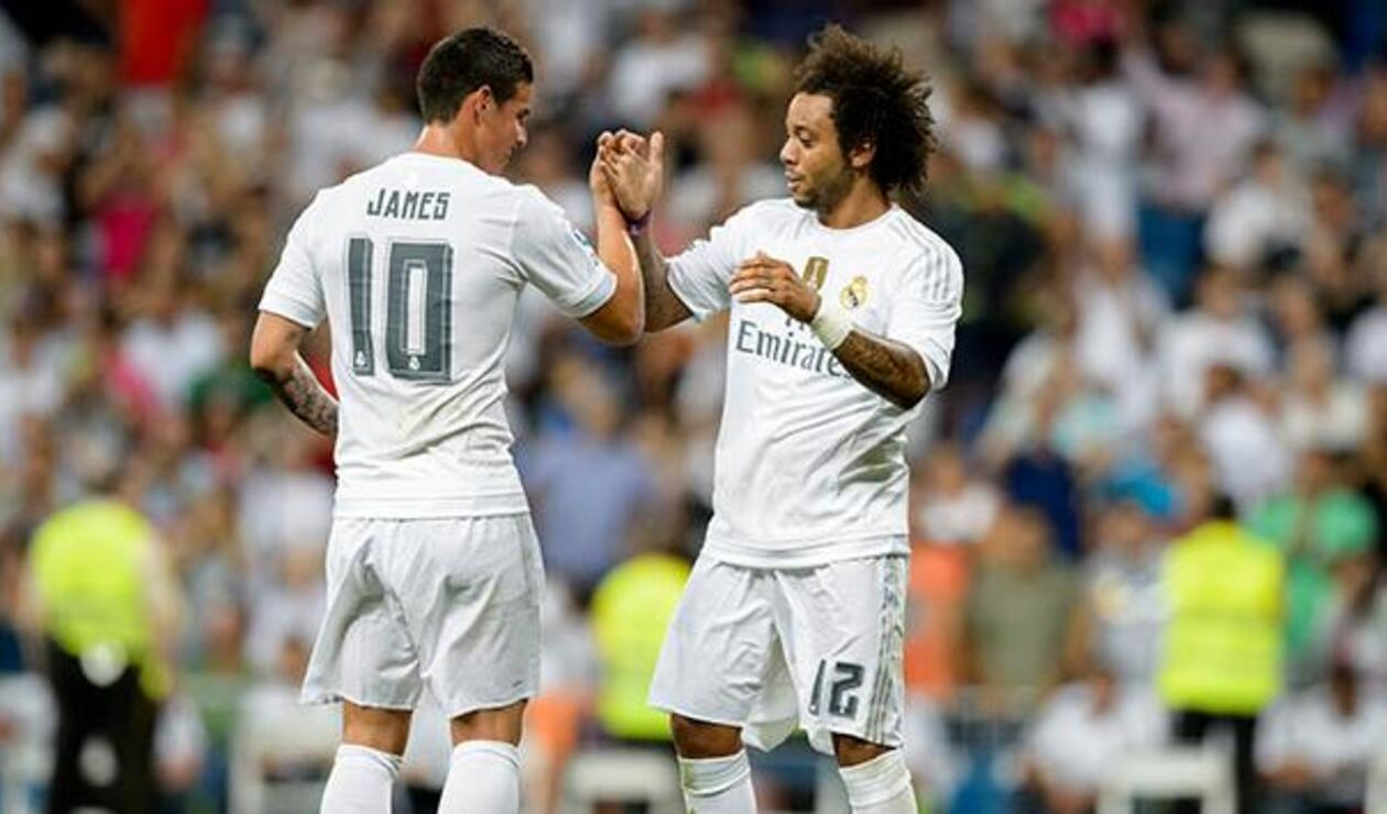 James Rodríguez y Marcelo