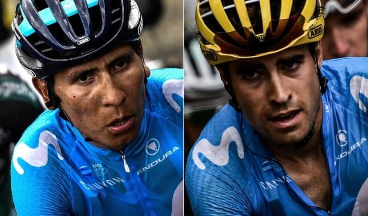 Nairo Quintana y Mikel Landa en el Movistar Team