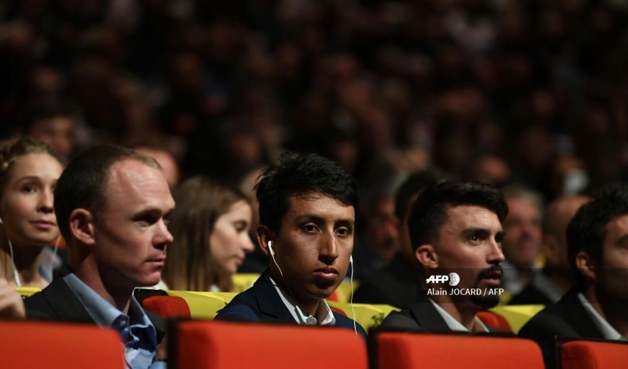 Egan Bernal y Chris Froome - presentación Tour de Francia 2020