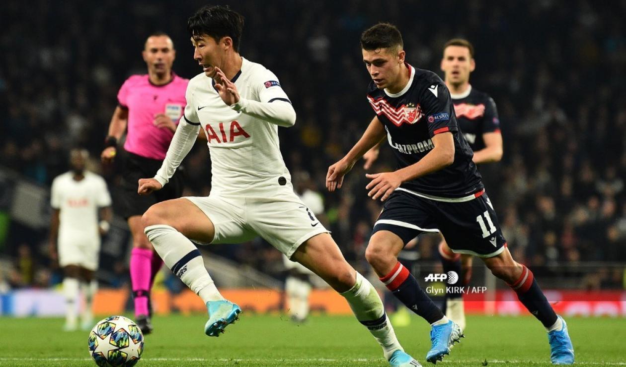 Tottenham vs Estrella roja - Champions League