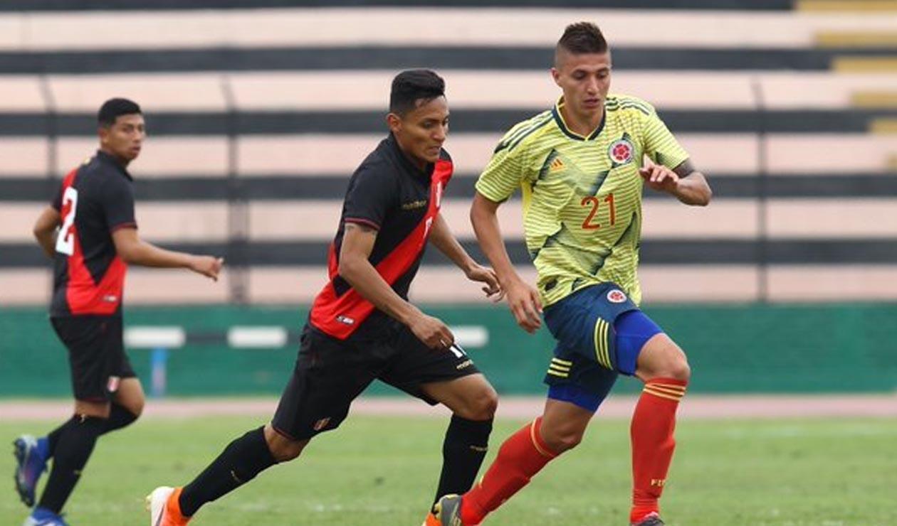 Selección Sub-23 contra Perú en amistoso