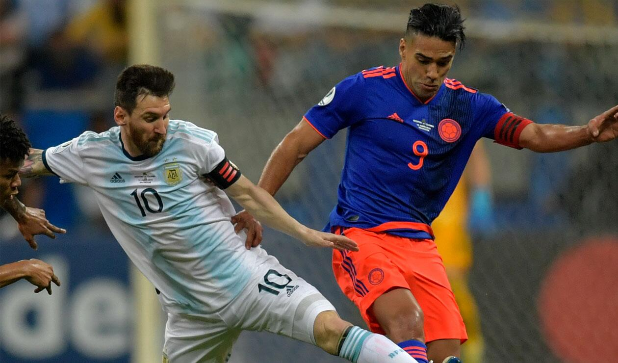 Falcao, Messi