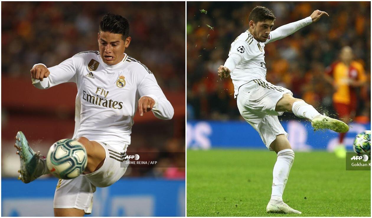 James Rodríguez y Federico Valverde - Real Madrid