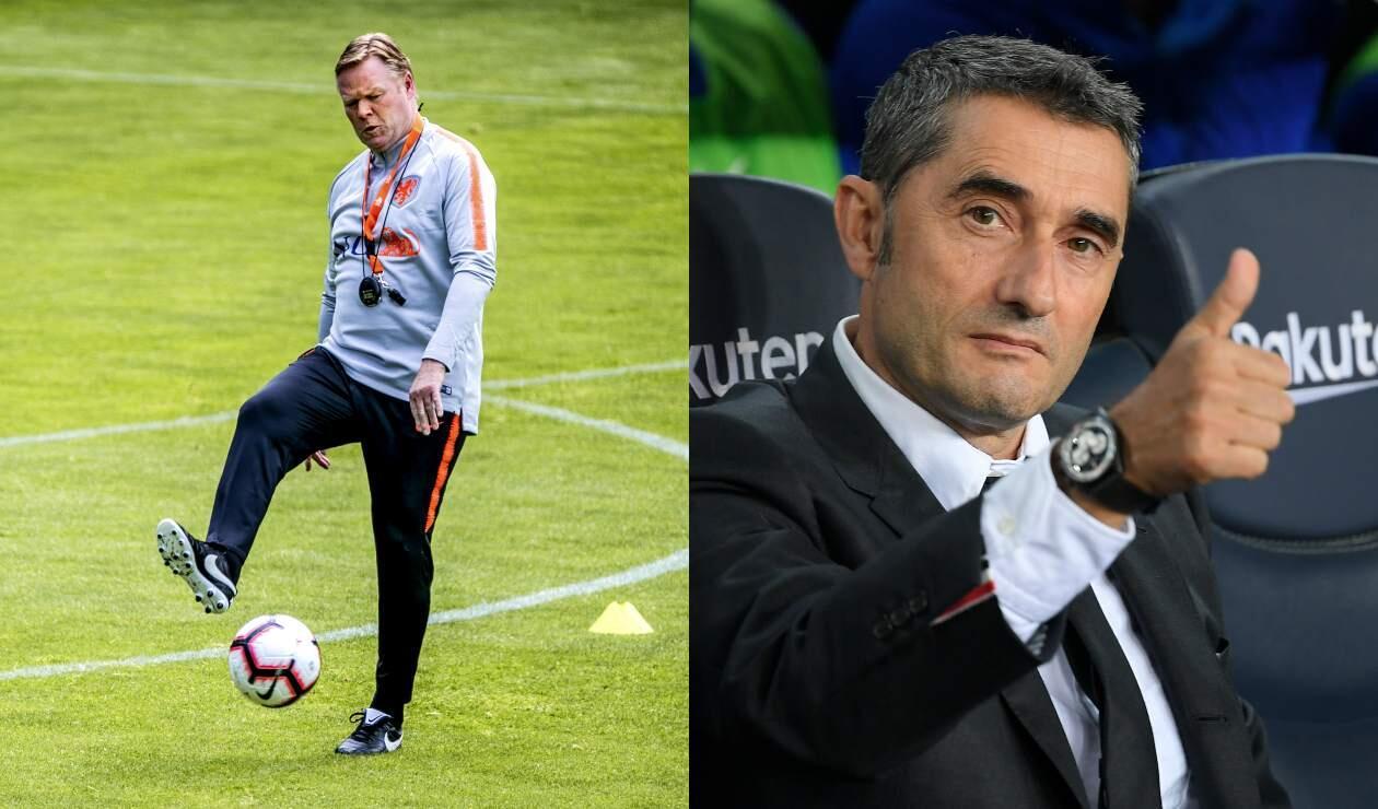 Ronald Koeman y Ernesto Valverde