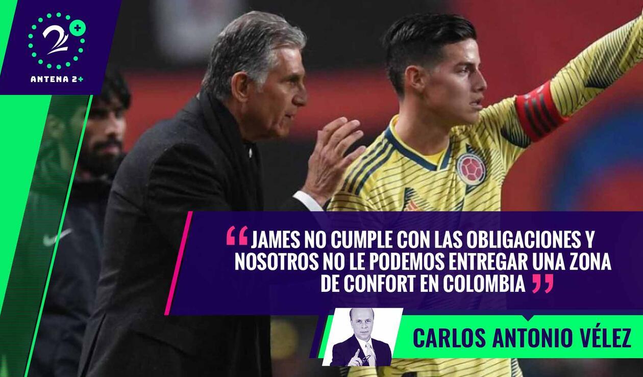 James Rodríguez y Carlos Queiroz