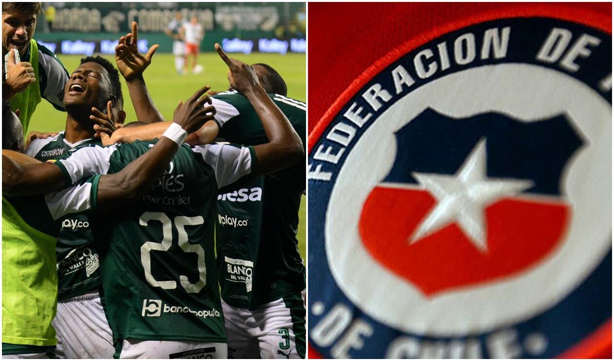Deportivo Cali y escudo de la ANFP