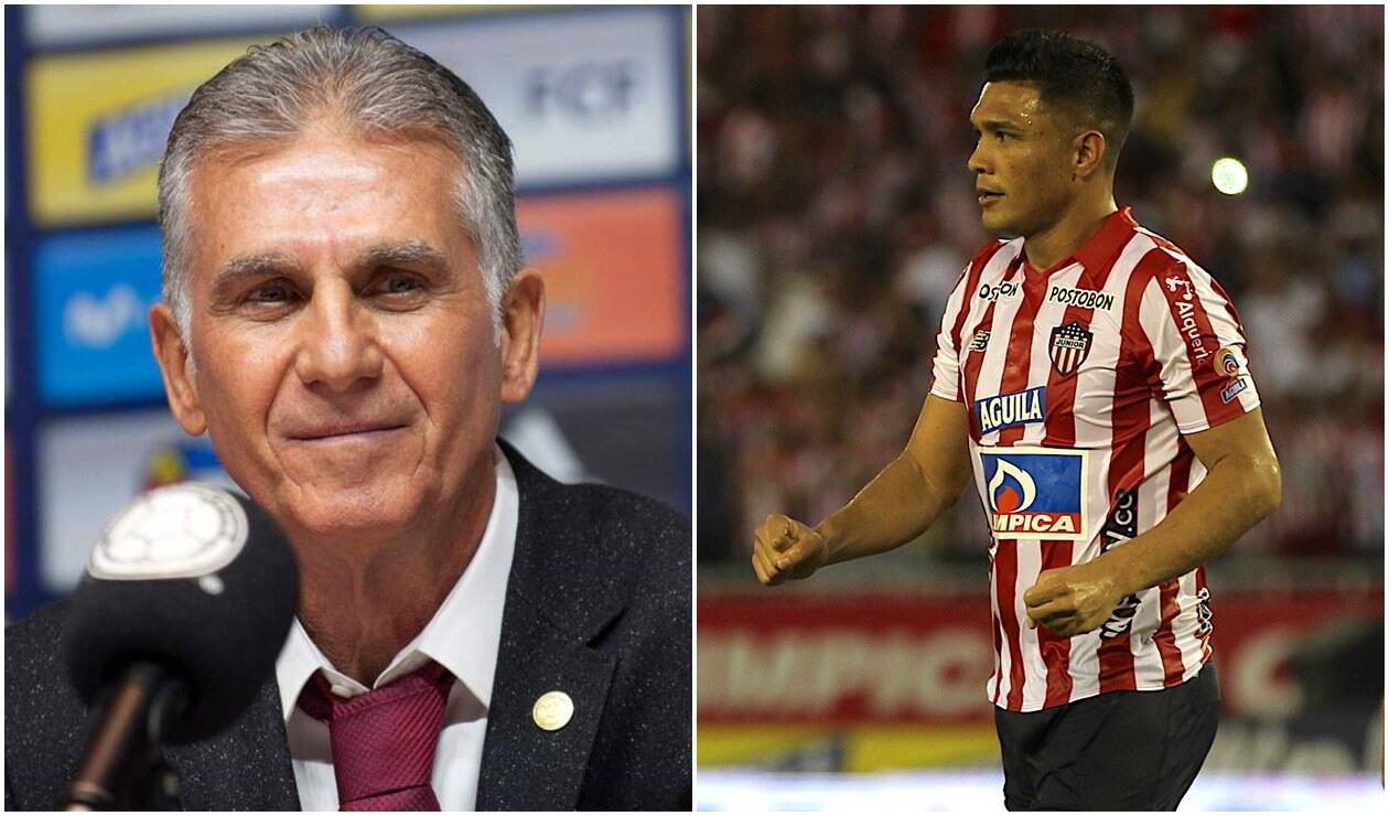 Carlos Queiroz y 'Teo' Gutiérrez