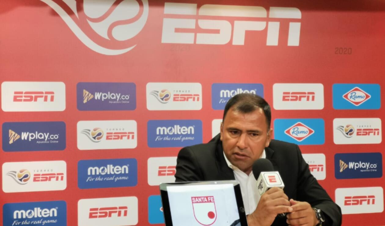 Hárold Rivera, técnico de Santa Fe 2020