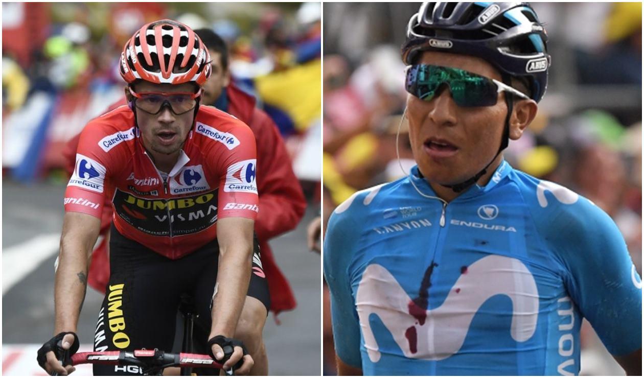 Roglic y Nairo Quintana